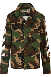 Oversized camouflage-print cotton-canvas jacket