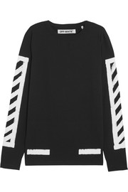 Oversized printed cotton-jersey top