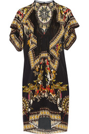Roberto Cavalli Printed silk crepe de chine mini dress