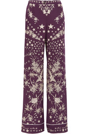 Roberto Cavalli Pretty Thing printed silk straight-leg pants