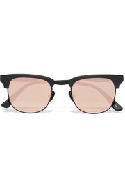 Vanguard 14 square-frame acetate and metal mirrored sunglasses