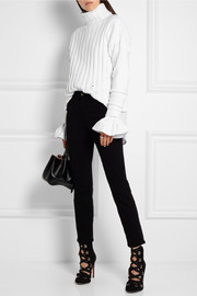 Esteban Cortazar Ribbed velvet turtleneck sweater