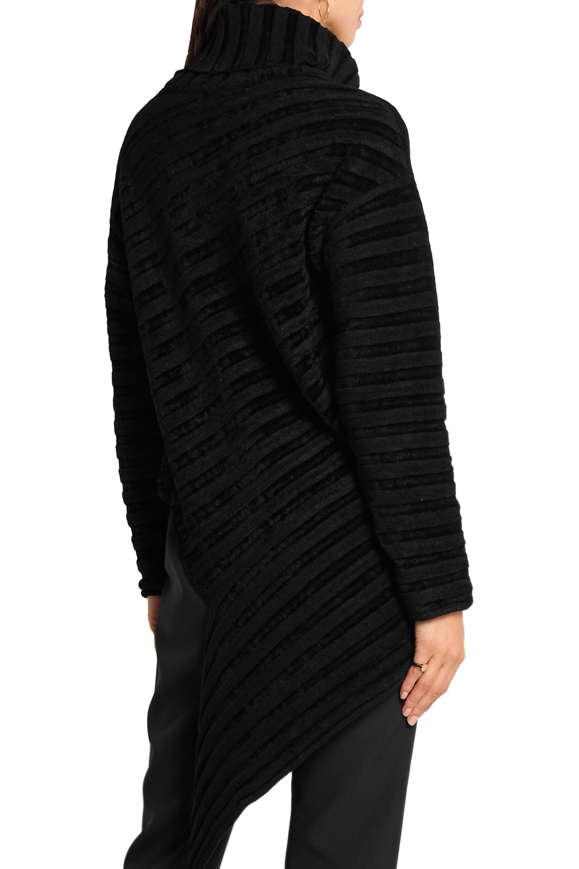 Esteban Cortázar Asymmetric ribbed-knit chenille turtleneck sweater