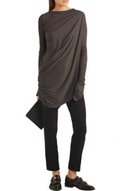 Rick Owens Asymmetric draped jersey top