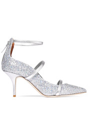 Robyn glittered leather pumps