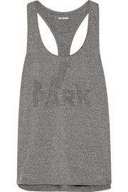 Laser-cut stretch-jersey tank