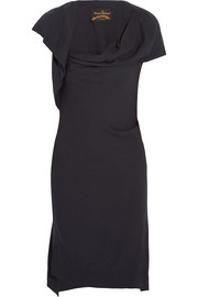Ash draped crepe dress