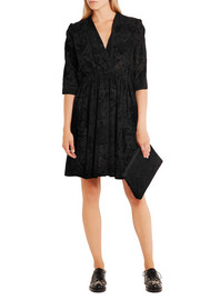 Harima flocked crepe dress