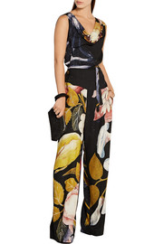 Vivienne Westwood Anglomania Belted printed gauze jumpsuit