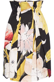 Vivienne Westwood Anglomania Cristos floral-print pleated cotton skirt