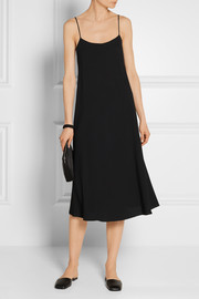 The Row Gibbons crepe midi dress