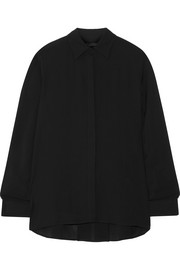 The Row Carlton crepe blouse