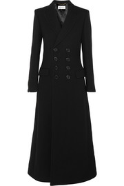 Saint Laurent Double-breasted wool-twill coat