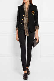 Saint Laurent Embellished wool-felt blazer