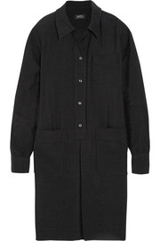 A.P.C. Atelier de Production et de Création Megan slub jersey shirt dress