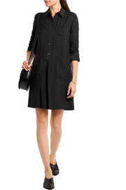 Megan slub jersey shirt dress