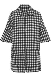 Granville gingham wool-blend coat