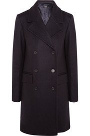 Abysse double-breasted wool-blend felt coat