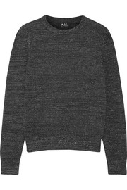 A.P.C. Atelier de Production et de Création Rivage metallic stretch wool-blend sweater