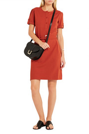 Mila belted stretch-cady dress