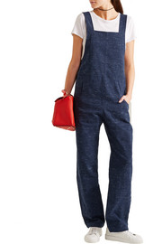 Bryce cotton-blend tweed overalls