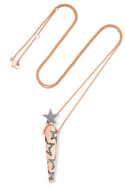 Diane Kordas Amulette 18-karat rose gold diamond necklace
