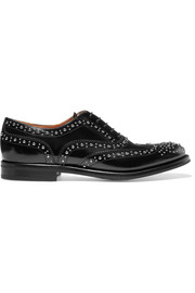 Church's The Burwood Met studded glossed-leather brogues