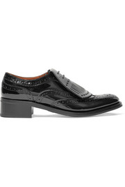 Constance patent-leather brogues