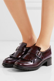 Church's Pilar fringed glossed-leather loafers