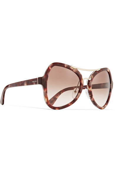 Prada Gold Frame Sunglasses : Prada Butterfly-frame acetate and gold-tone sunglasses ...