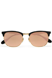 Clubmaster metal mirrored sunglasses