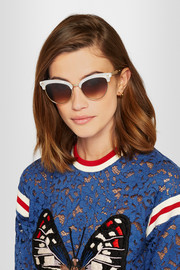 Gucci Cat-eye gold-tone and acetate sunglasses
