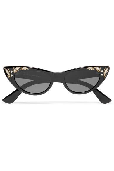 Gucci - Cat-eye Acetate Sunglasses - Black