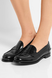 Church's Sally glossed-leather loafers