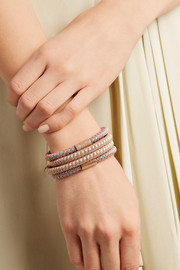 Carolina Bucci Twister 18-karat rose gold plated and silk bracelet