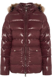 Pyrenex Authentic faux fur-trimmed quilted glossed-shell down jacket