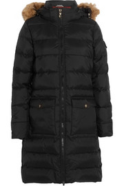 Pyrenex Authentic faux fur-trimmed quilted shell down coat