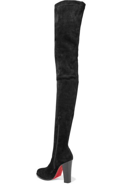 christian louboutin over the knee boots suede