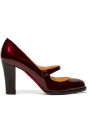 Christian Louboutin Top Street 85 patent-leather Mary Jane pumps