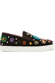 Boat Candy 20 embellished suede slip-on sneakers