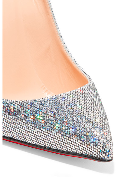 the best attitude b7703 02ede Pigalle Follies 100 glittered leather pumps