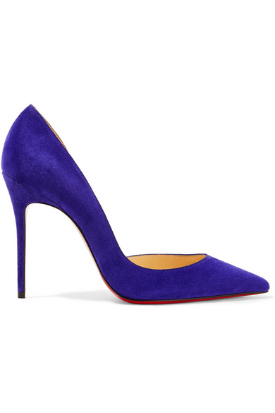 christian louboutin female christian louboutin iriza 100 suede pumps purple