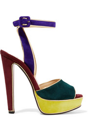 Christian Louboutin Louloudance color-block suede sandals