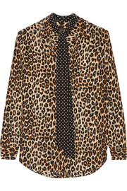 Kate Moss for Equipment Slim Signature leopard-print washed-silk shirt