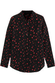 Kate Moss for Equipment Slim Signature printed washed-silk shirt