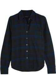 Kate Moss for Equipment London checked brushed-cotton shirt