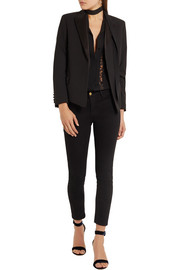 Kate Moss for Equipment Wynne satin-trimmed wool-twill blazer