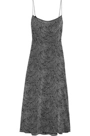 Kate Moss for Equipment Jessa printed washed-silk maxi dress