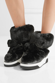MICHAEL Michael Kors Nala textured-leather and faux-fur boots