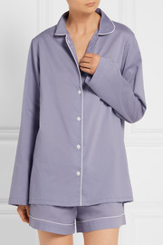 Phoebe cotton-poplin pajama set